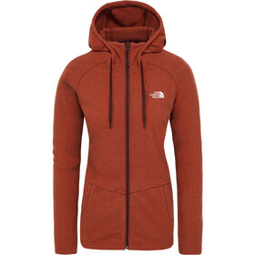 The North Face Mezzaluna Full-Zip Hoodie Women picante red stripe